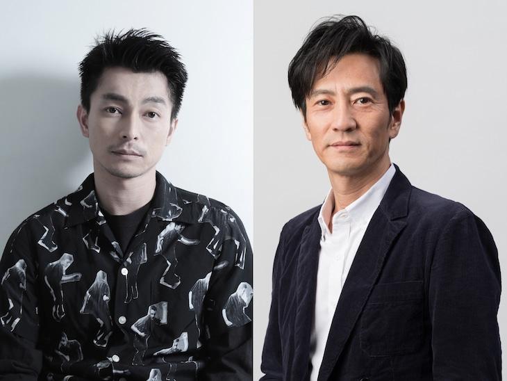 左から遠藤雄弥、津田寛治。