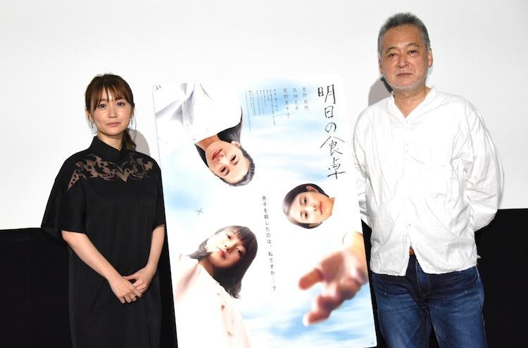「明日の食卓」公開記念トークイベントの様子。左から大島優子、瀬々敬久。