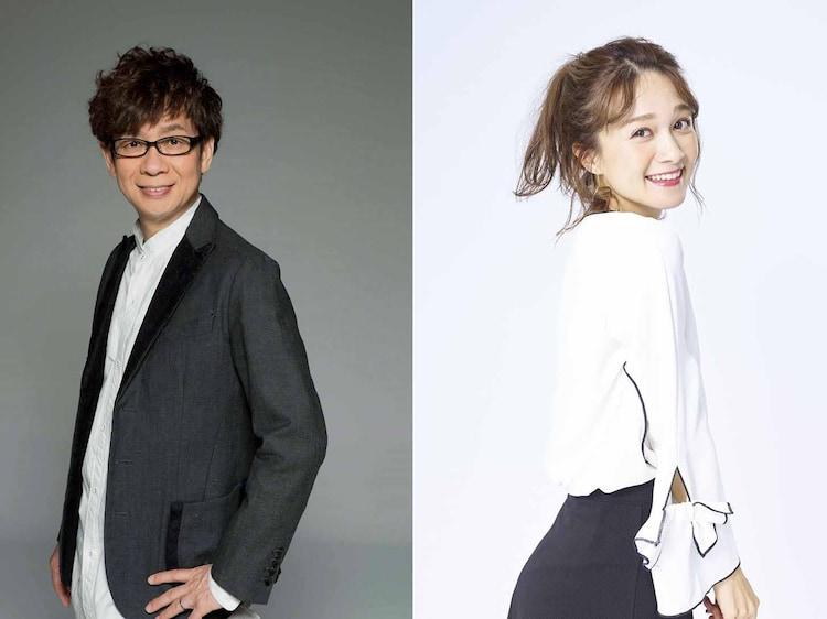 左から山寺宏一、岡田ロビン翔子。