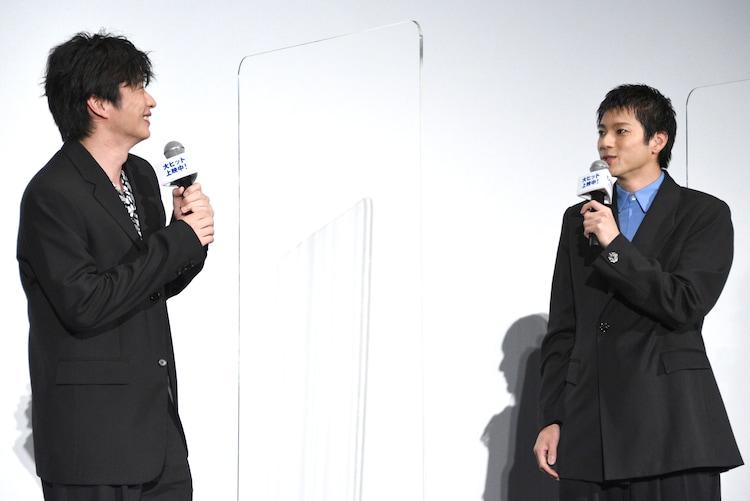 左から田中圭、山田裕貴。