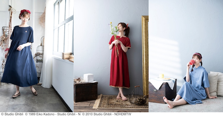 Donguri Closetから発売されるリラックスウェア3種の着用イメージ。