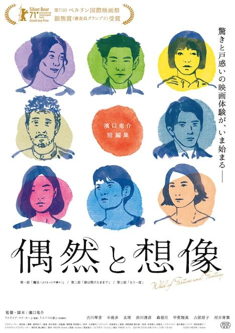 「偶然と想像」日本版ポスタービジュアル