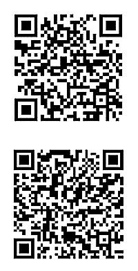 上のQRコードが「公認アップフロント着信」で、下が「公認アップフロント着信フル」。