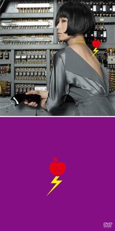 上がアルバム「私と放電」で、下がDVD「私の発電」のジャケットデザイン。