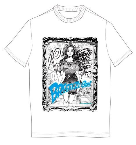 インパクト抜群な「BREEEEZE GIRL」特典Tシャツ。山岸由花子そっくりの動きで街をパァァァァッと闊歩しよう。