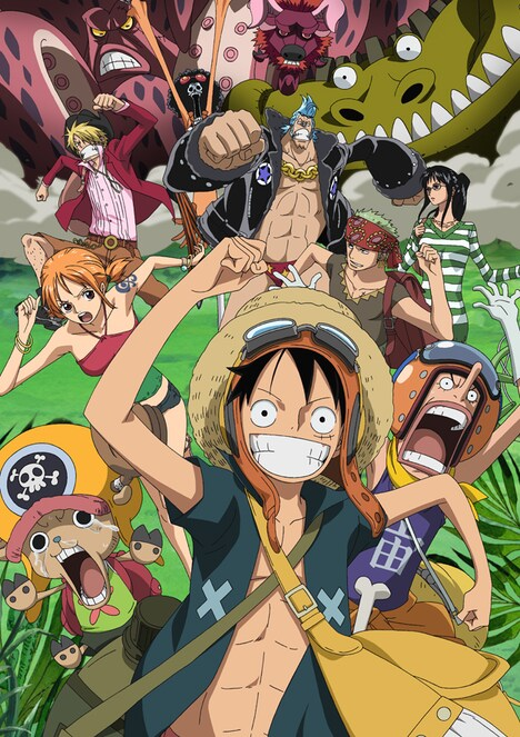 「ONE PIECE FILM STRONG WORLD」は、「ONE PIECE」のアニメ化10周年を記念した作品。尾田は映画のためにオリジナルストーリーを執筆したほか、設定資料となる120枚以上のラフ画を描き起こしたとのこと。(C)尾田栄一郎/集英社・フジテレビ・東映アニメーション (C)「2009 ワンピース」製作委員会