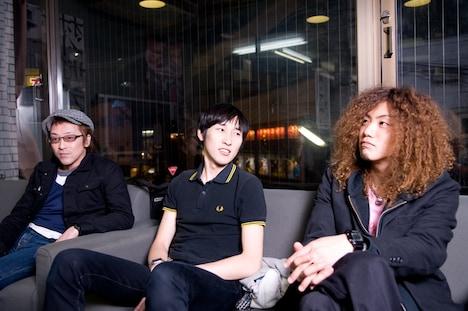 REDEMPTION 97のインタビューは3人の息もぴったり。終始なごやかな雰囲気で行われた。