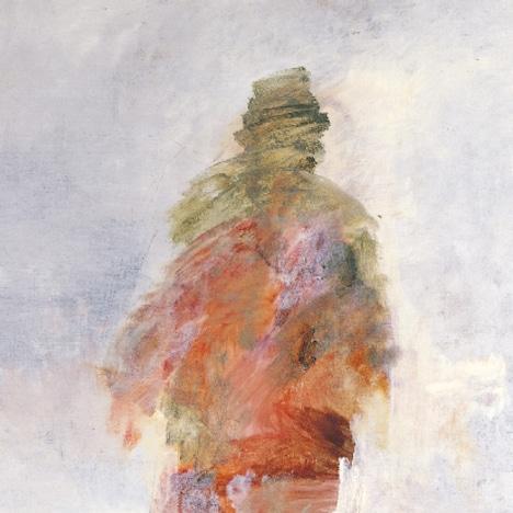 「NO ALBUM 無題」のジャケットに使用されているのは、1978年に30歳の若さで亡くなった北海道の画家・深井克美が、飛び降り自殺する前に描いていた最後の作品「ランナー(未完)」。北海道立近代美術館蔵。