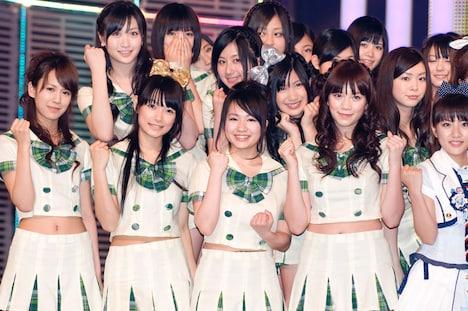 NHK初登場となったアイドリング!!!は18人で、6月9日発売のニューシングル「目には青葉 山ホトトギス 初恋」を歌い会場を盛り上げた。