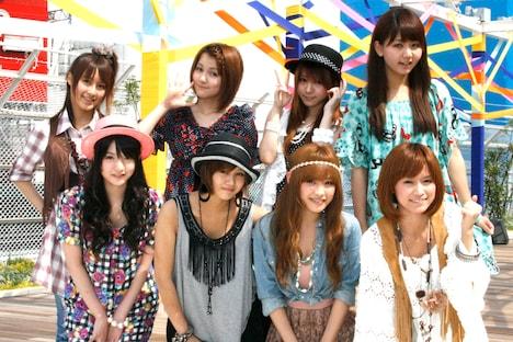 主演舞台「FASHIONABLE(ファッショナブル)」の制作発表に出席したモーニング娘。の8人。