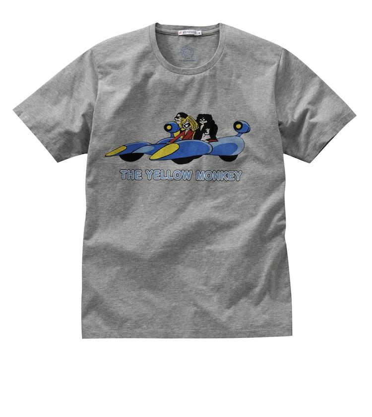 THE YELLOW MONKEY×UTコラボTシャツ。1997年のシングル「LOVE LOVE SHOW」に登場する、アニメキャラクター版THE YELLOW MONKEYがモチーフ。