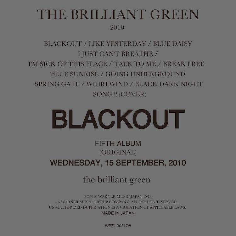 the brilliant green「BLACKOUT」初回限定盤ジャケット
