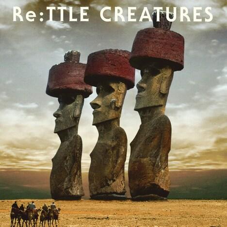 「Re:TTLE CREATURES」のジャケット(写真)はモアイ像をモチーフとしたユニークなデザイン。