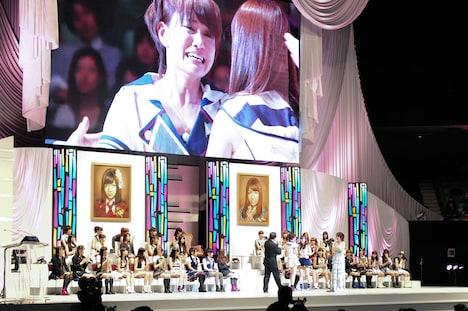 「AKB48 22ndシングル 選抜総選挙『今年もガチです』」開票イベントの様子。