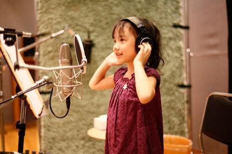 デビュー作をレコーディング中の芦田愛菜。