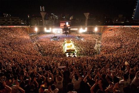 横浜スタジアムの様子(写真:Terumi Fukano)。 (C)AIR JAM 2011