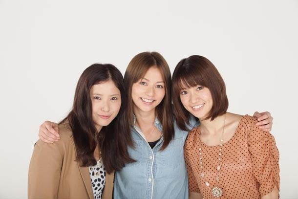 「私が恋愛できない理由」に出演する吉高由里子、香里奈、大島優子(写真左より)。