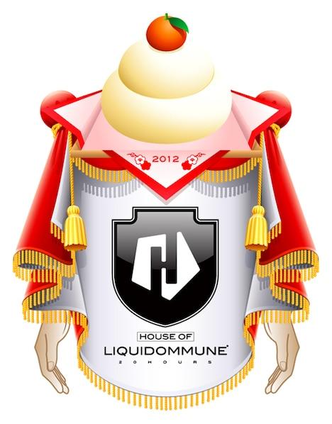 「LIQUID LOFT x DOMMUNE presents『HOUSE OF LIQUIDOMMUNE 2012!!!!!!! 20HOURS!!!!!!!』C:O:U:N:T:D:O:W:N & C:O:U:N:T:U:P Special !!!!!!!!!!!!」新年バージョンロゴ