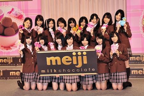 乃木坂46「明治手づくりチョコレート選抜」メンバー16名。