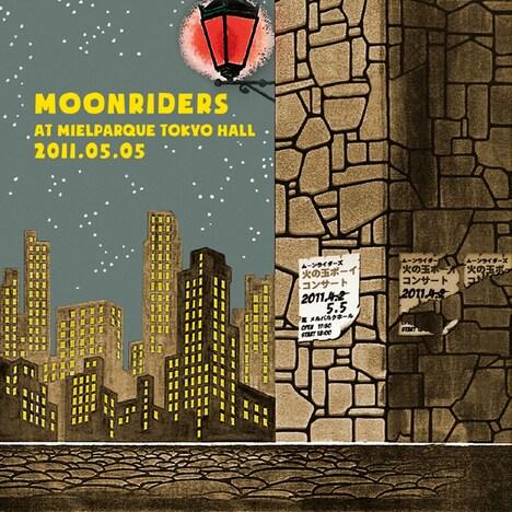 """アルバム「moonriders LIVE at MIELPARQUE TOKYO HALL 2011.05.05""""火の玉ボーイ コンサート""""」ジャケット"""
