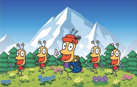 「おしりの山はエベレスト」のアニメのワンシーン。