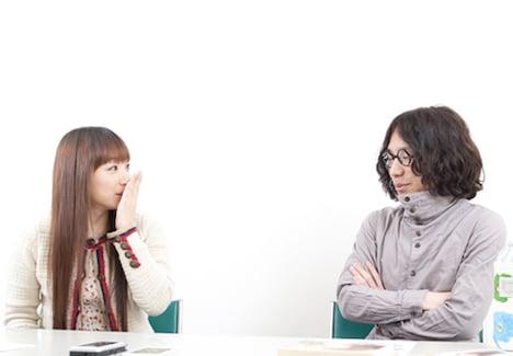 自身のアルバムレコーディングが架橋に迫る中、対談に駆けつけた清竜人(写真右)。アルバムは無事完成し、新作「MUSIC」は5月9日に発売されることが決定した。