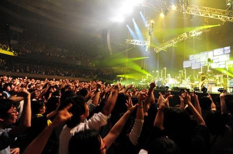 今回のライブのアリーナ席はオールスタンディング形式となった。
