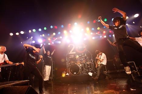 「贈る歌」のセッションでは自由きままに歌い、暴れていたFLOWとDOESのメンバー。