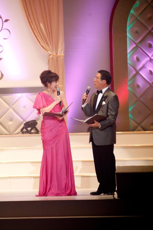 3年連続で司会を務めた木佐彩子、徳光和夫(写真左から)。
