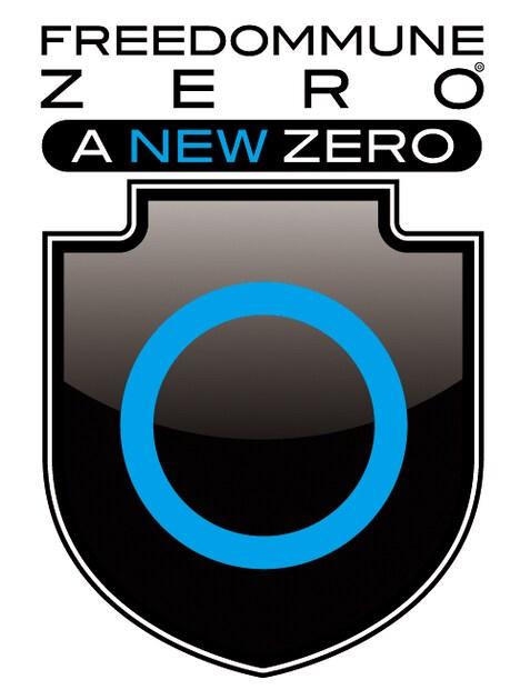 「FREEDOMMUNE 0<ZERO> A NEW ZERO」ロゴ