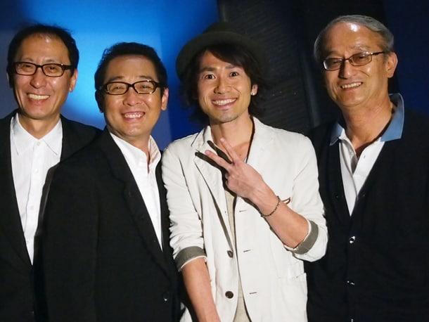 写真左から武部聡志、さだまさし、ナオト・インティライミ、石田弘エグゼクティブディレクター。