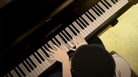 松永のピアノプレイを元にしたアニメ内の演奏シーン。(C)小玉ユキ・小学館 /「坂道のアポロン」製作委員会