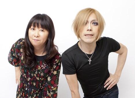 谷山浩子(写真左)とROLLY(右)。