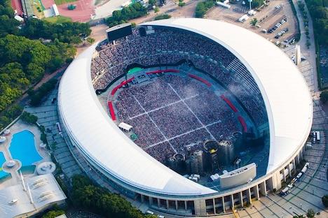 5万人が埋め尽くした長居スタジアム。