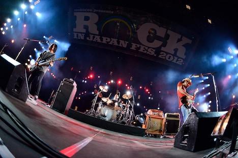 「ROCK IN JAPAN FESTIVAL 2012」の大トリを務めたACIDMAN。