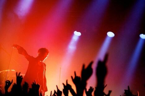 躍動的な照明がライブを彩った「acid android live 2012」ツアーファイナルの様子。(撮影:岡田貴之)
