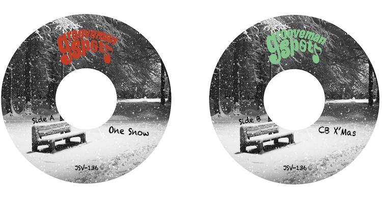 grooveman Spot「One Snow / CB Xmas」のレーベル面。