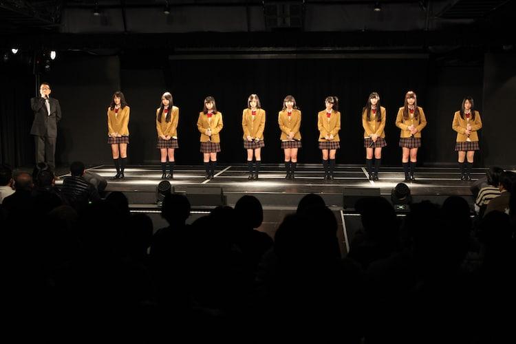 本日のチームKII公演より、卒業発表の様子。 (C)AKS