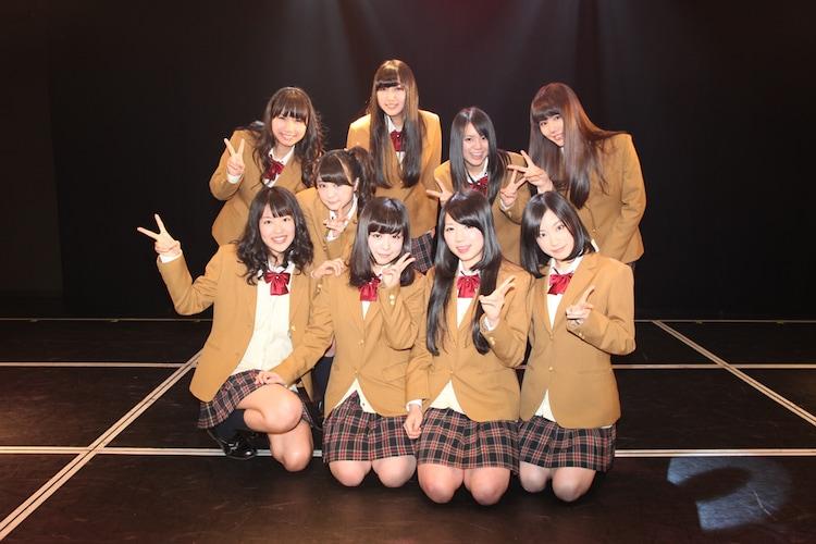 本日卒業を発表したSKE48メンバー9名。 (C)AKS
