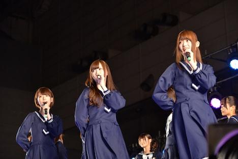 橋本奈々未、白石麻衣、松村沙友理(左から)