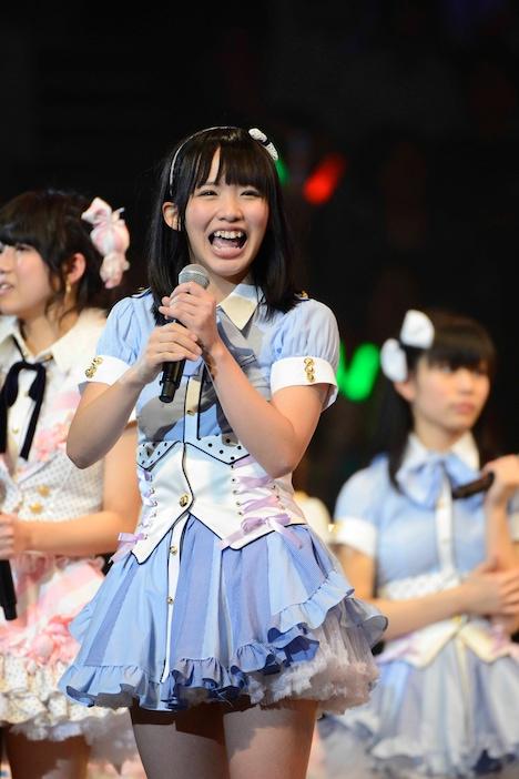 「SKE48終身名誉研究生」に任命された松村香織。(C)AKS