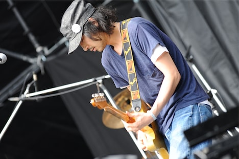 猪狩翔一(tacica)。写真は5月25日に開催された「TOKYO METROPOLITAN ROCK FESTIVAL 2013」の模様。 (C) Metrock 2013