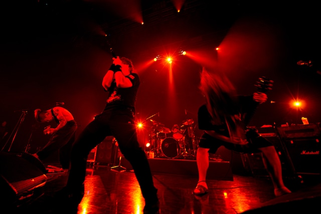 「ずっと好きだったんじゃけぇ~さすらいの麺カタ Perfume FES!!」大阪・Zepp Namba公演でのマキシマム ザ ホルモン。