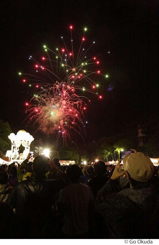 前夜祭の花火。