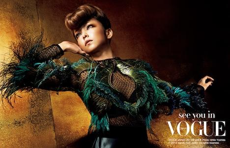 「VOGUE JAPAN」10月号に掲載される安室奈美恵×GUCCIのコラボレーションビジュアル。