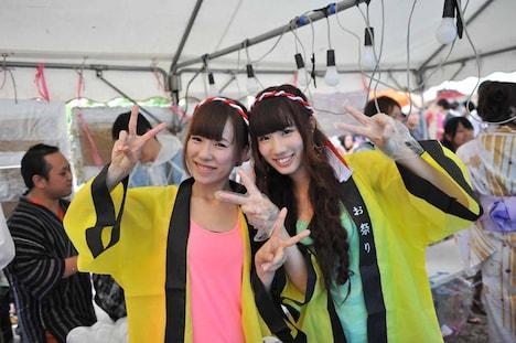 右が卒業を発表した後藤梨佳子。