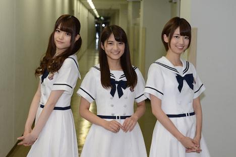 左から松村沙友理、若月佑美、橋本奈々未。