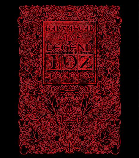 BABYMETAL「LIVE~LEGEND I、D、Z APOCALYPSE~」ジャケット