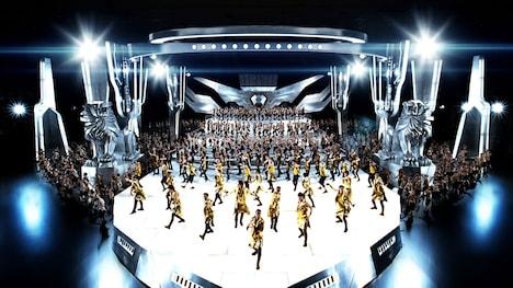 総勢約1000人が踊るEXILE「EXILE PRIDE ~こんな世界を愛するため~(スペシャル・エディション)」ビデオクリップのワンシーン。