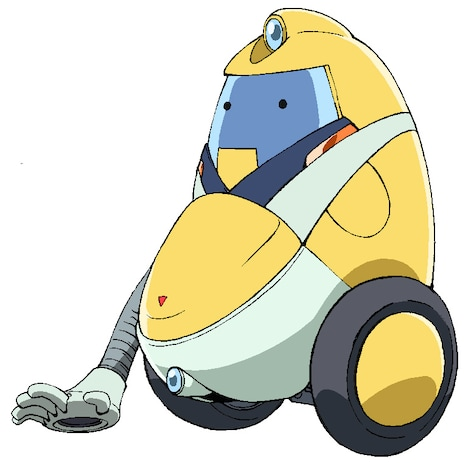 佐武宇綺が演じる掃除機ロボットQT。(c)2014 BONES / Project SPACE DANDY